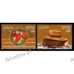 Białoruś 2005 Mi 593-94 ** Europa Cept Gastronomia Folklor Sport