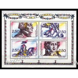 Francja 1991 Mi BL 11 ** Rewolucja Koń Sport