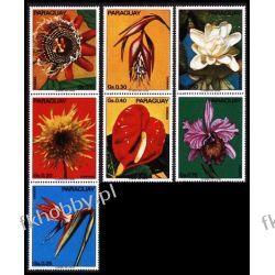 Paragwaj 1973 Mi 2525-31 ** Kwiaty Kwiat Flora