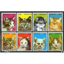 Paragwaj 1976 Mi 2765-72 ** Zwierzęta Koty Ssaki