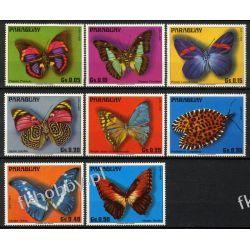 Paragwaj 1976 Mi 2794-01 ** Zwierzęta Motyle Owady