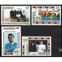 Rwanda 1987 Mi 1366-69 ** Jan Paweł II Papież Marynistyka