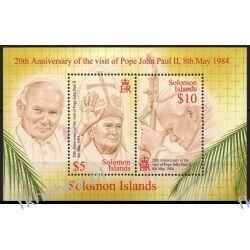 Wyspy Salomona 2004 Mi BL 74 ** Jan Paweł II Pozostałe