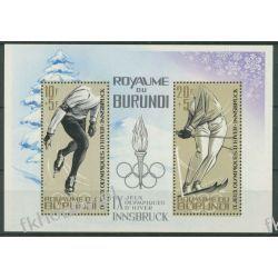 Burundi 1964 Mi BL 3A ** Olimpiada Insbruck Sport  Sport