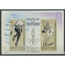 Burundi 1964 Mi BL 3B ** Olimpiada Insbruck Sport  Sport