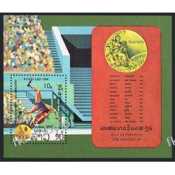 Laos 1984 Mi BL 100 ** Olimpiada Los Angeles Sport  Sport