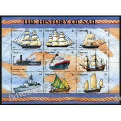 Grenada 1998 Mi ark 3657-65 ** Statki Żaglowce Pozostałe