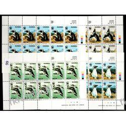 Namibia 1997 Mi ark 837-40 ** WWF Ptaki Pingwiny Ptaki