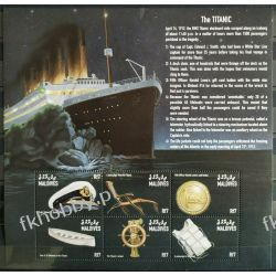 Malediwy 1998 Mi ark 3109-14 ** Statek Titanic Marynistyka
