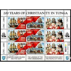 Tonga 1997 Mi ark 1471-73 ** Próba Statek Okręt Marynistyka