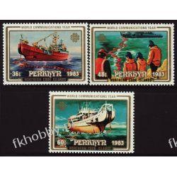 Penrhyn 1983 Mi 315-17 ** Statek Okręt Ssaki