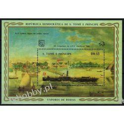 Wyspy Św Tomasza 1984 Mi BL 151 ** Statek Okręt Kolekcje
