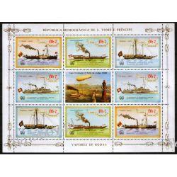 Wyspy Św Tomasza 1984 ark 912-15 ** Statek Okręt Kolekcje