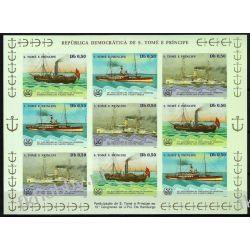 Wyspy Św Tomasza 1984 ark 905-08 B ** Statek Okręt Kolekcje
