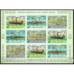 Wyspy Św Tomasza 1984 ark 909-11 B ** Statek Okręt Kolekcje