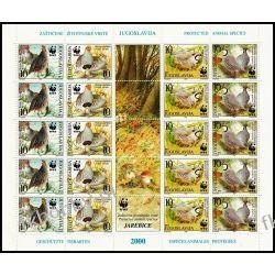 Jugosławia 2000 ark 2966-69 ** WWF Ptaki Kuropatwa Kolekcje