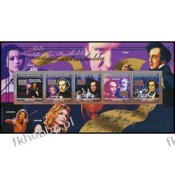 Gwinea 2009 ar 6630-34 ** Felix Mendelssohn Muzyka Pozostałe