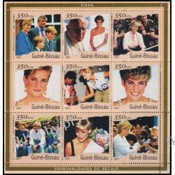 Gwinea Bissau 2001 Mi Ark 1929-37 ** Diana Jan Paweł II Polonica