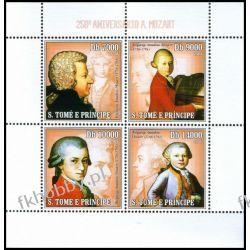 Wyspy Św Tomasza 2006 ark 2714-17 ** Mozart Muzyka Statki i okręty