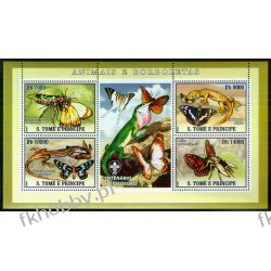 Wyspy Św Tomasza 2007 Ark 3008-11 ** Motyle Jaszczurki Owady