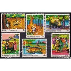 Gwinea 1968 Mi 487-92 ** Bajki i Legendy Zwierzęta