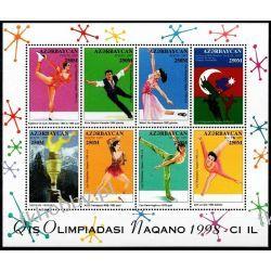Azerbejdżan 1998 Mi ark 406-13 ** Olimpiada Nagano Sport