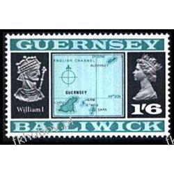 WB Guernsey 1969 Mi 18 II ** Kartografia Polonica