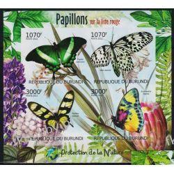 Burundi 2012 Mi ark 2540-43 B ** Motyle Motyl Kwiaty Owady
