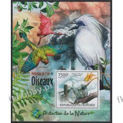 Burundi 2012 Mi BL 237 ** Ptaki Ptak Papuga Ptaki