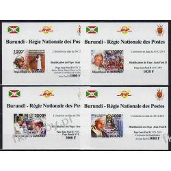 Burundi 2011 Mi 2146-49 B Deluxe ** Jan Paweł II
