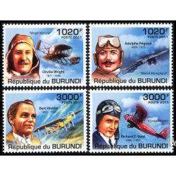 Burundi 2011 Mi 2210-13 ** Samolot Lotnicy Lotnictwo