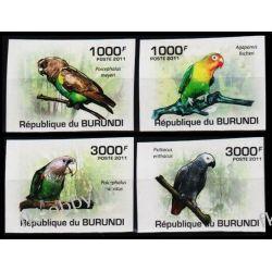 Burundi 2011 Mi 1974-77 B ** Ptaki Papugi