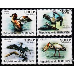 Burundi 2011 Mi 2002-05 ** Ptaki Pelikan Kormoran Ptaki