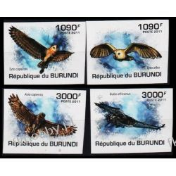 Burundi 2011 Mi 2094-97 B ** Ptaki Sowy Sowa
