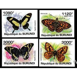 Burundi 2011 Mi 2118-21 B ** Motyle Owady Owady