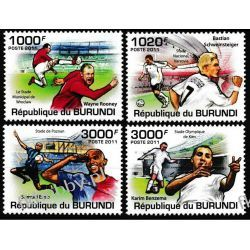 Burundi 2011 Mi 2138-41 ** Piłka Nożna Sport Sport