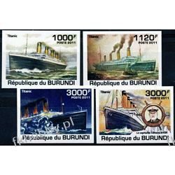 Burundi 2011 Mi 2170-73 B ** Statek Okręt Titanic Marynistyka