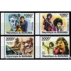 Burundi 2011 Mi 2258-61 ** Muzyka Hendrix Jagger McCartney