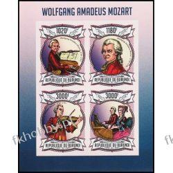 Burundi 2013 ark 3013-16 B ** Mozart Kompozytor Muzyka Kolekcje