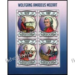 Burundi 2013 ark 3013-16 ** Mozart Kompozytor Muzyka Kolekcje