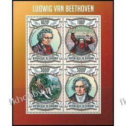 Burundi 2013 ark 3018-21 ** Beethoven Kompozytor Muzyka Kolekcje