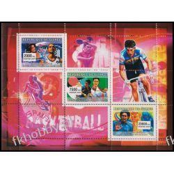 Gwinea 2007 ark 4569-71 ** Sport Rower Tenis Sport