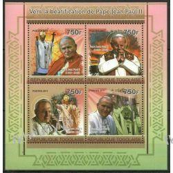 Togo 2011 Mi ark 3969-72 ** Jan Paweł II Papież Pozostałe