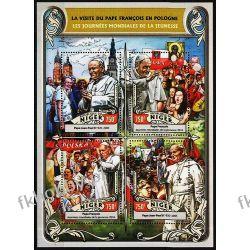 Niger 2016 Mi ark 4312-15 ** Jan Paweł II Papież Benedykt Polonica