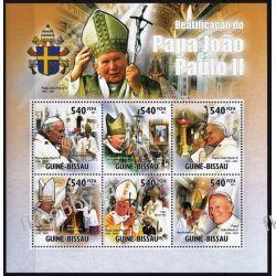 Gwinea Bissau 2011 Mi ark 5361-66 ** Jan Paweł II Papież Kolekcje