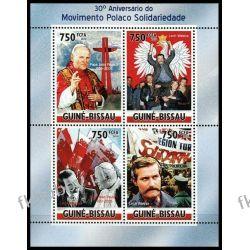 Gwinea Bissau 2010 Mi ark 4875-78 ** Jan Paweł II Wałęsa Kolekcje