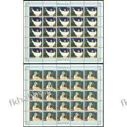 Rwanda 1990 Mi ark 1439-40 ** Jan Paweł II Papież Kolekcje