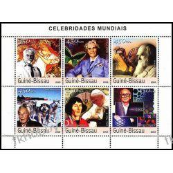 Gwinea Bissau 2003 Mi ark 2427-32 ** Jan Paweł II Kopernik Kolekcje