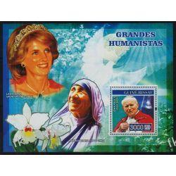 Gwinea Bissau 2007 Mi BL 585 ** Jan Paweł II Diana Matka Teresa Kolekcje