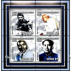 Mozambik 2002 Mi ark 2495-98 ** Jan Paweł II Luther King Kolekcje